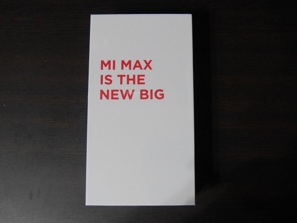 Xiaomi Mi Max 外箱表