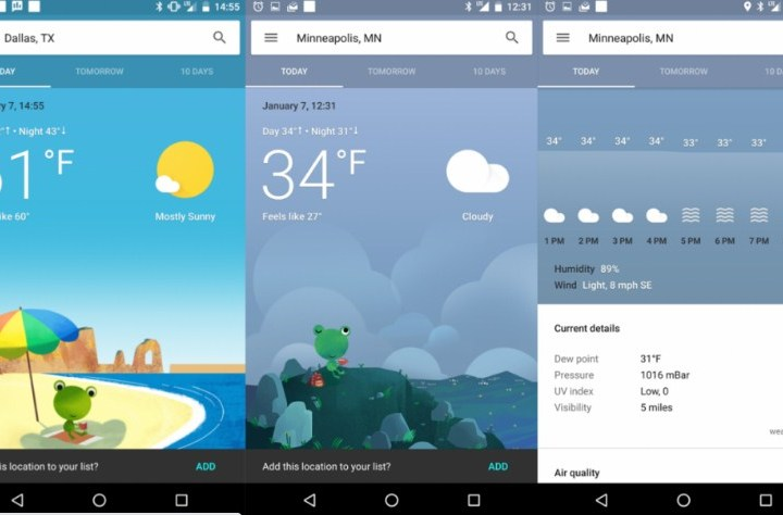 Aplikasi Cuaca Terbaik dan Widget Cuaca untuk Android