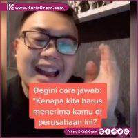 Tips buat kamu yang mau interview Tag kawanmu yang akan interview  Video: tiktok/ezahazami