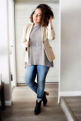 """""""6 Ways To Style a Khaki Blazer"""" OUTFIT DETAILS: https://thehoneygoldguru.com/2016/10/10/6-ways-to-wear-a-khaki-blazer/"""