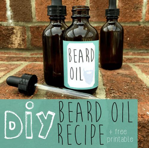 DIY Beard Oil Men's Gift Idea