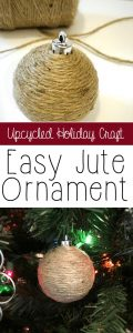 Easy Upcycled Jute Ornaments - homemade Christmas ornament idea