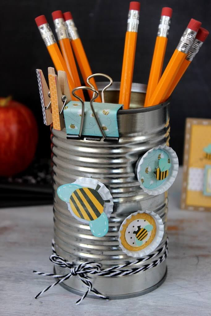 Upcycled Coffee Can Ideas: Gift Set/Pencil Holder