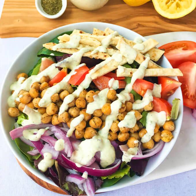 Hearty Vegan Gyro Salad