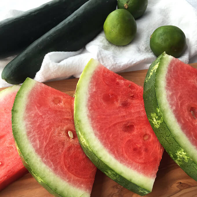 Watermelon Cucumber Slushie - refreshing summer drink