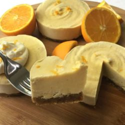 Vegan Creamsicle Cheesecake Recipe: Blended with natural orange and vanilla flavors, this delicious vegan dessert recipe is reminiscent of a creamsicle!
