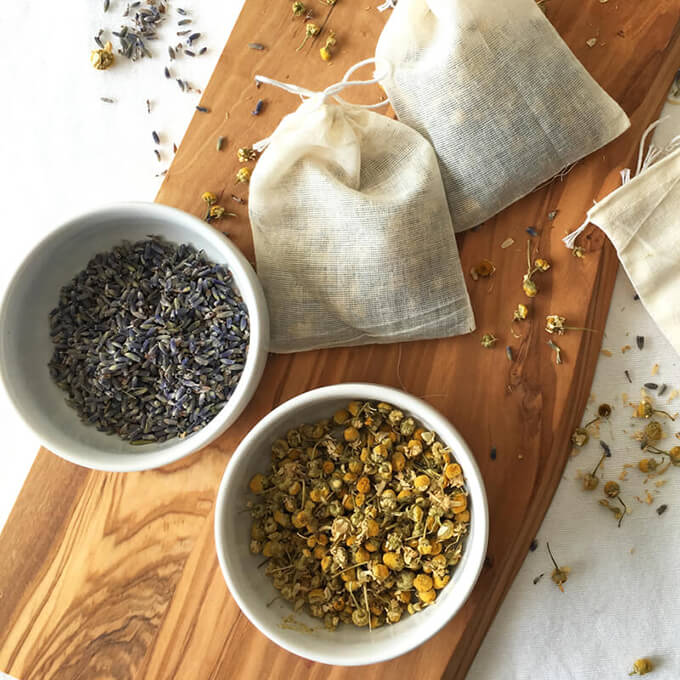 Calming Herbal Bath Bundles - great diy gift idea for moms, sisters, grandmas, etc.