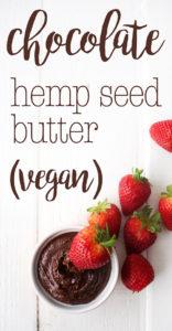 Healthy chocolate hemp seed butter