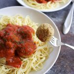 high-protein vegan chickpea meatballs for dinner