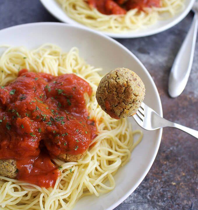 high-protein vegan chickpea meatballs for dinner