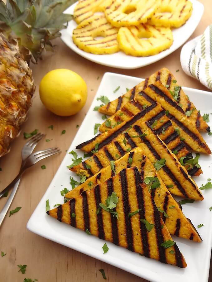 Grilled pineapple tofu