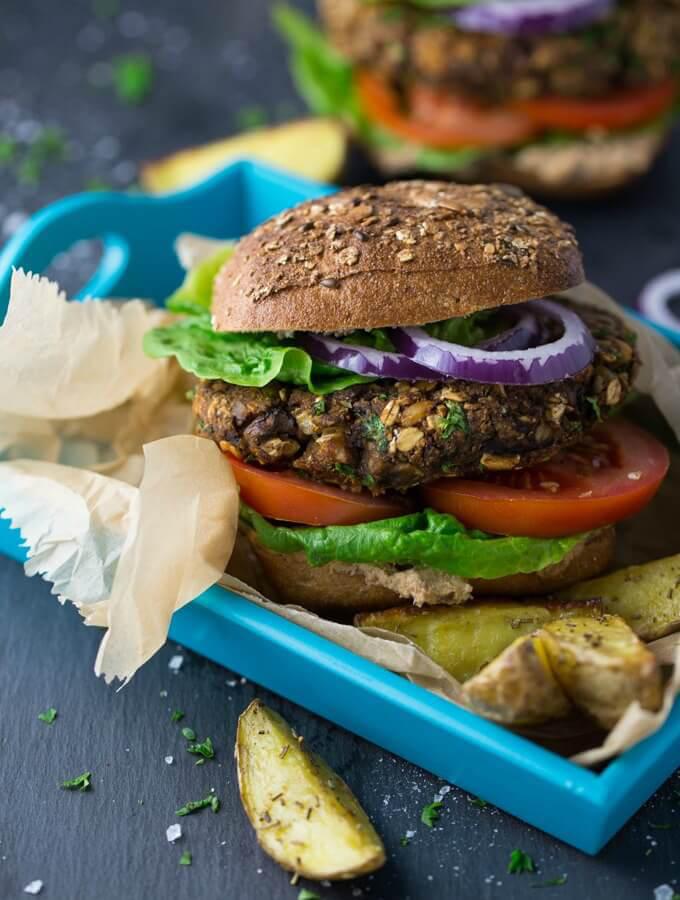Vegan Mushroom Burgers for the grill