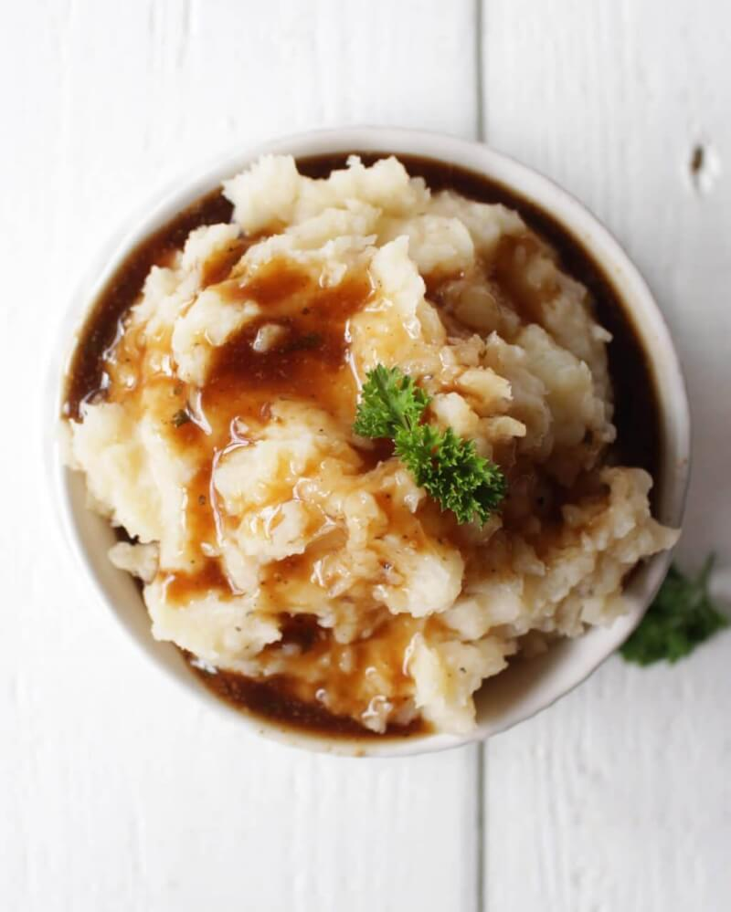 Instant Pot Mashed Potatoes - vegan, oil-free
