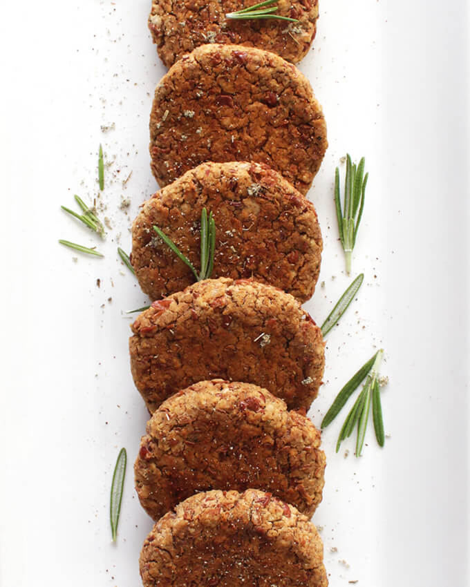 Baked Vegan Breakfast Sausage Patties