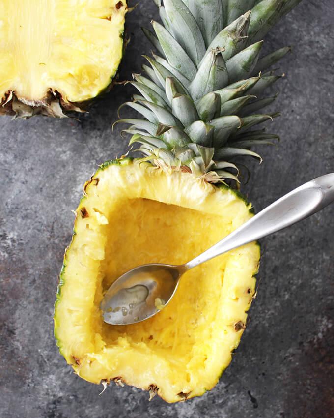 vegan teriyaki in pineapple bowls recipe