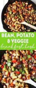 Bean, Potato, & Veggie Vegan Breakfast Hash   healthy vegan breakfast recipe