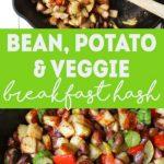 Bean, Potato, & Veggie Vegan Breakfast Hash | healthy vegan breakfast recipe