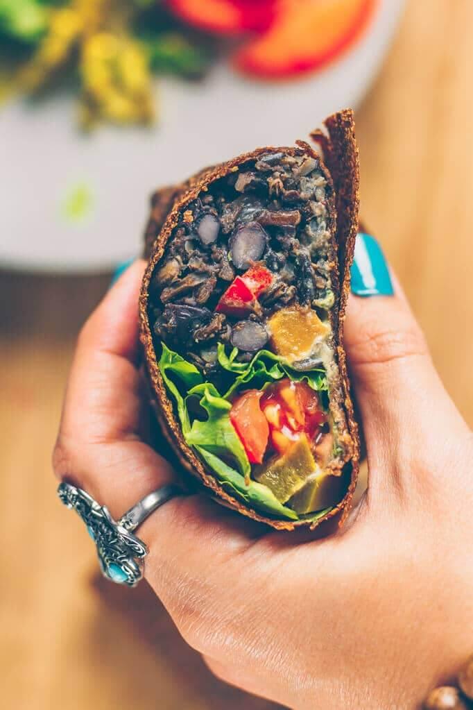 Oil-Free Vegan Recipes - Black Bean Burritos