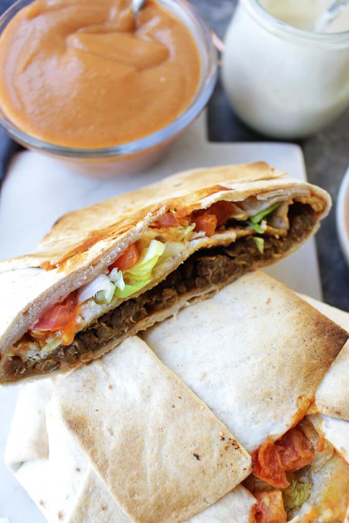 Healthy Homemade Vegan Crunchwrap