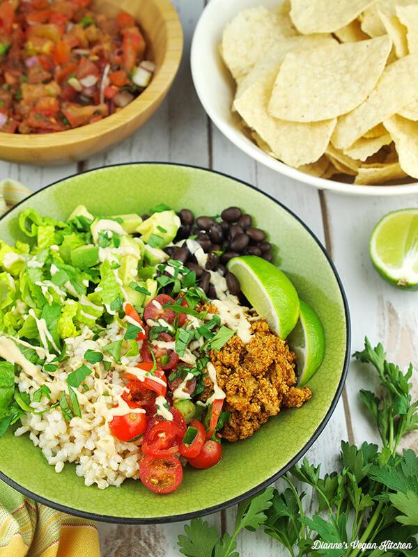 Vegan Copycat Recipes - Sofritas Burrito Bowl
