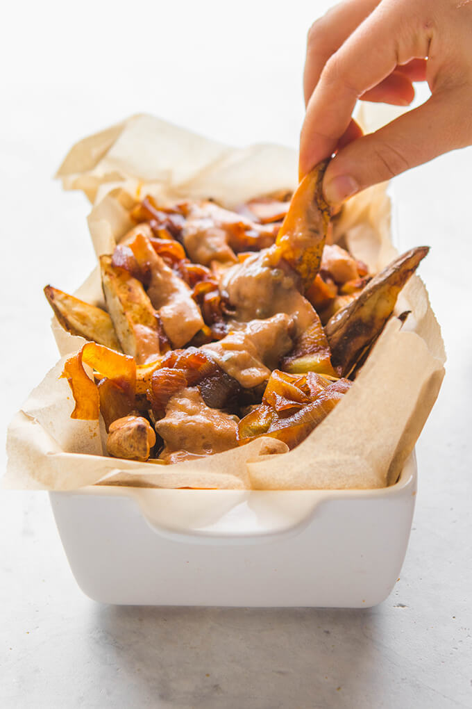 Vegan Copycat Recipes - Animal Style Fries from In-n-Out