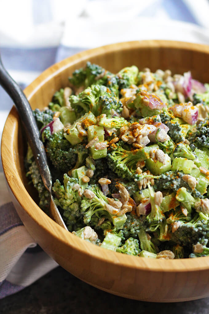 Broccoli Salad with Creamy Curry Dressing