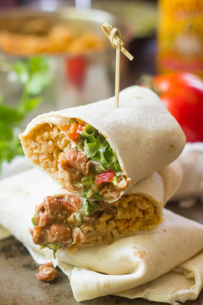 Vegan Copycat Recipes - Seven Layer Burrito Recipe