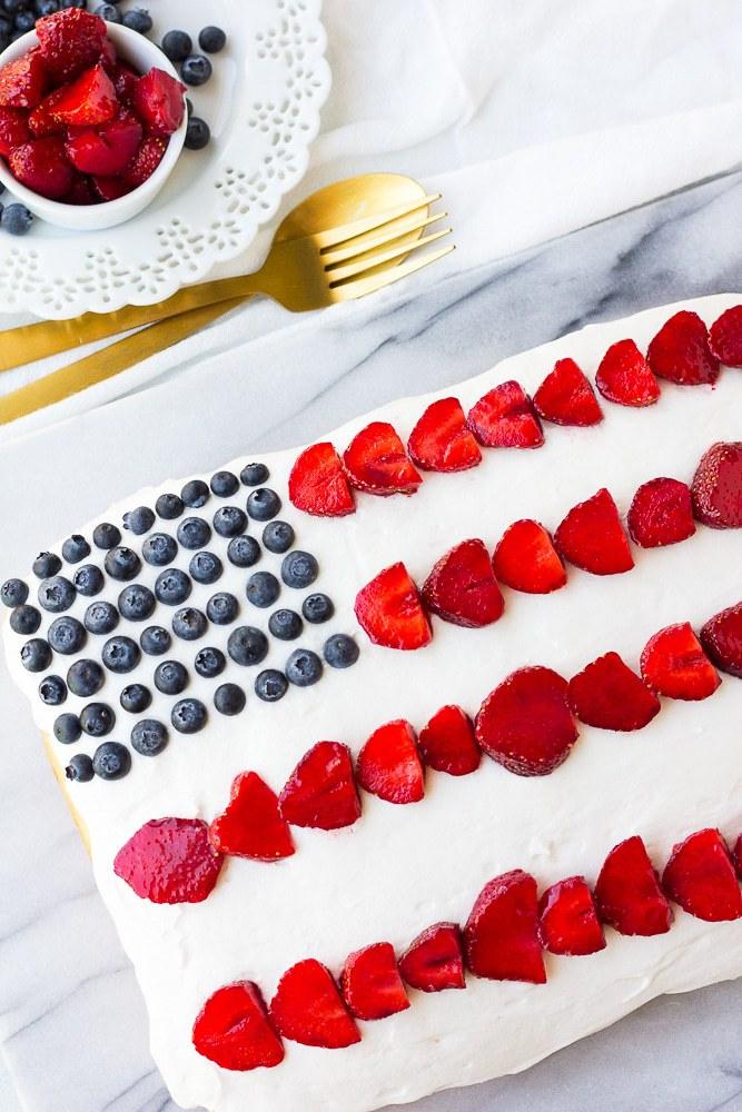 Vegan 4th of July Cake