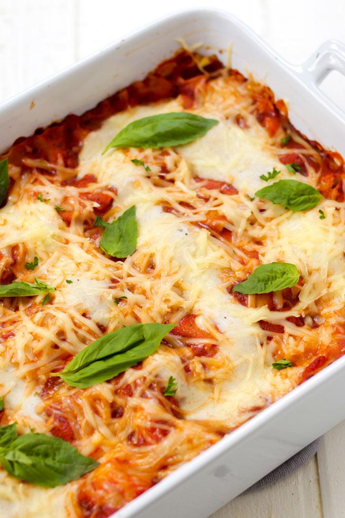 vegan, dairy-free lasagna
