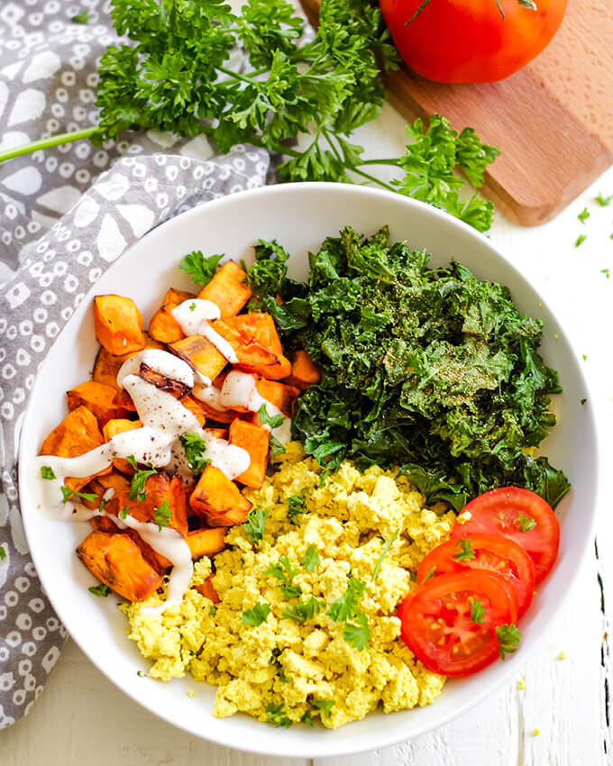 vegan sweet potato breakfast bowl