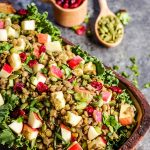 high-protein vegan salad made with lentils