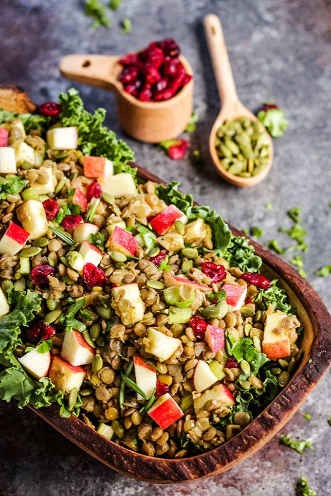 Apple Lentil Salad