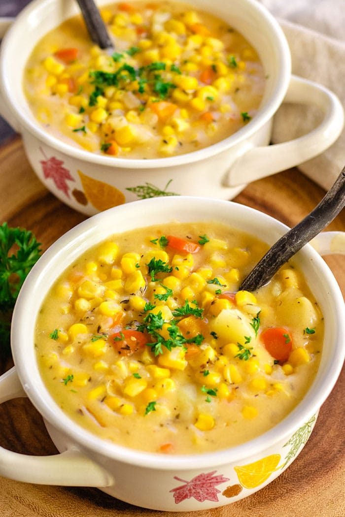 Instant Pot Corn Chowder.