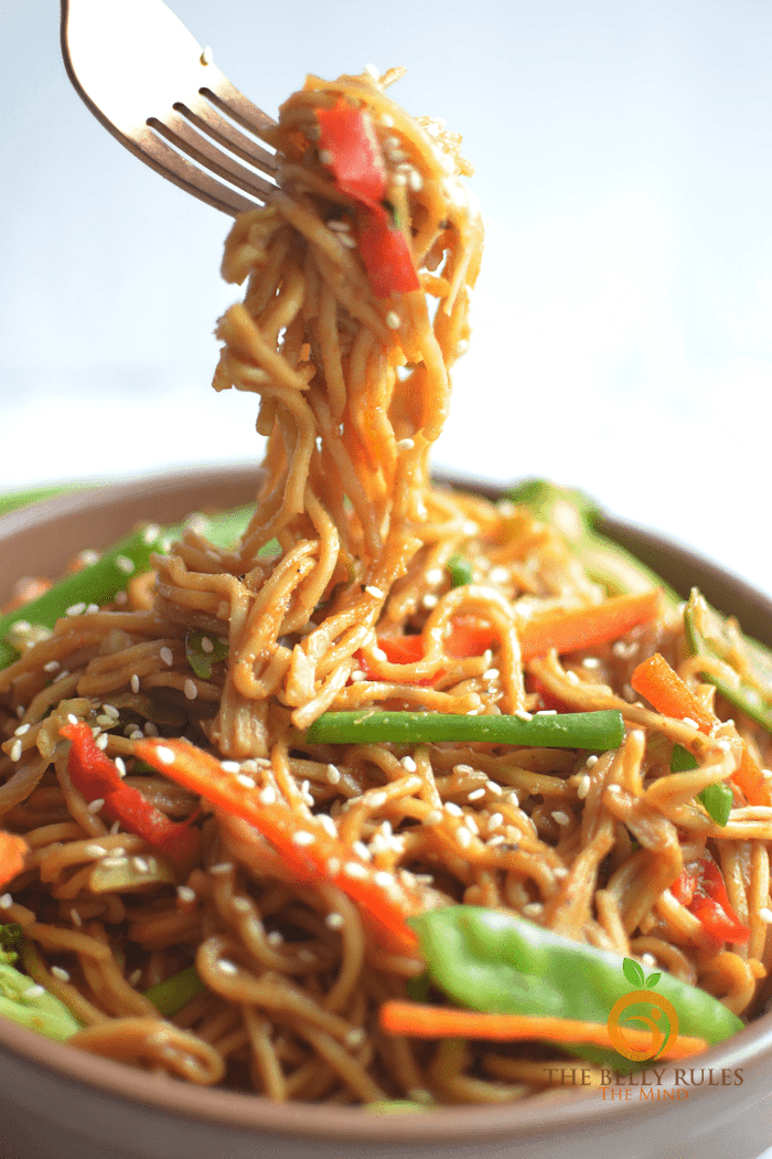 Instant Pot Vegetable Chow Mein.