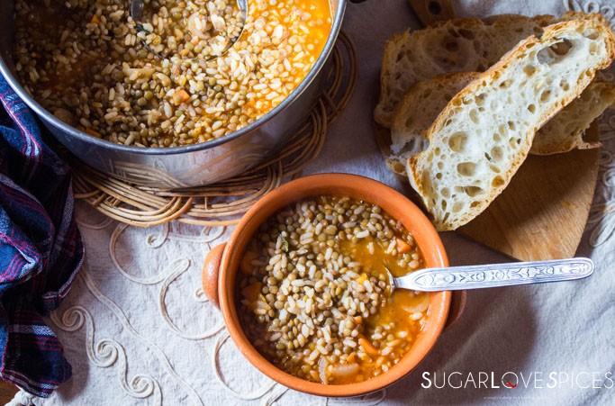 Riso e Lenticchie (Rice and lentil Soup)