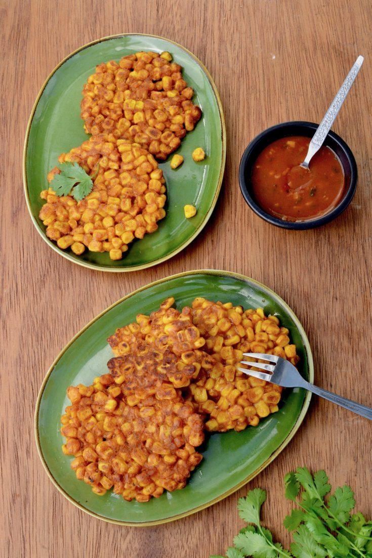 Vegan Sweetcorn Fritters - Easy & Quick Recipe