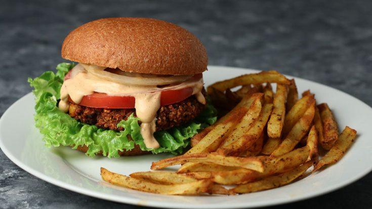 Black Bean Burgers - Oil-free and Vegan