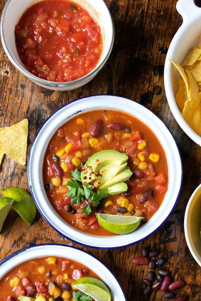 Easy Mexican Bean Soup