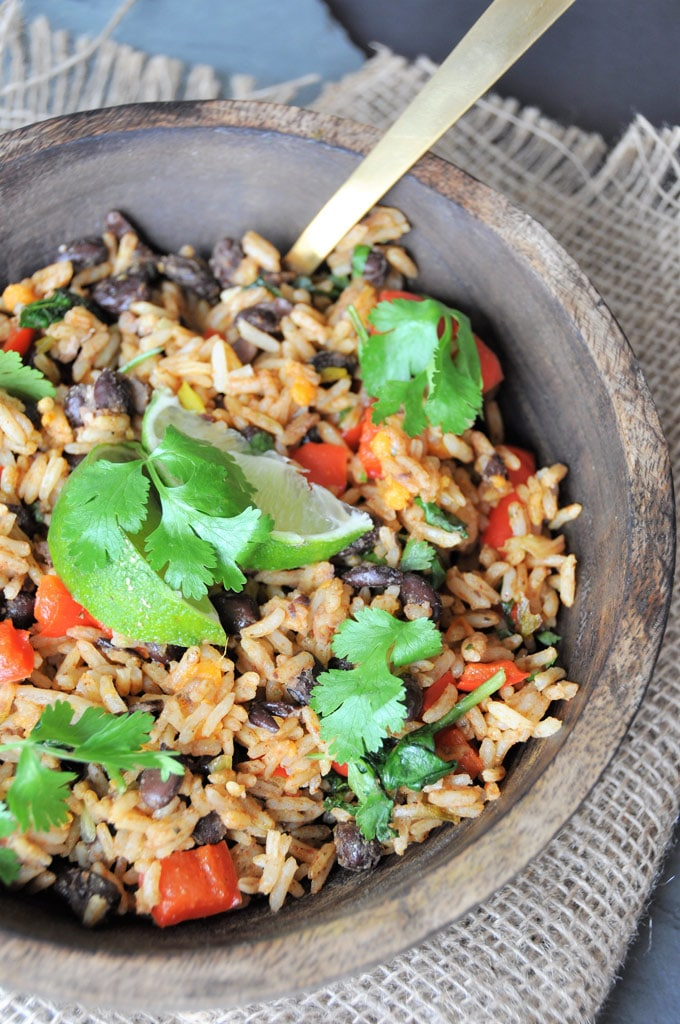 Veggie Loaded Black Beans and Rice