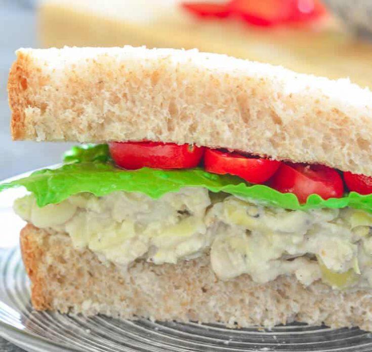 White Bean & Artichoke Vegan Sandwich Filling