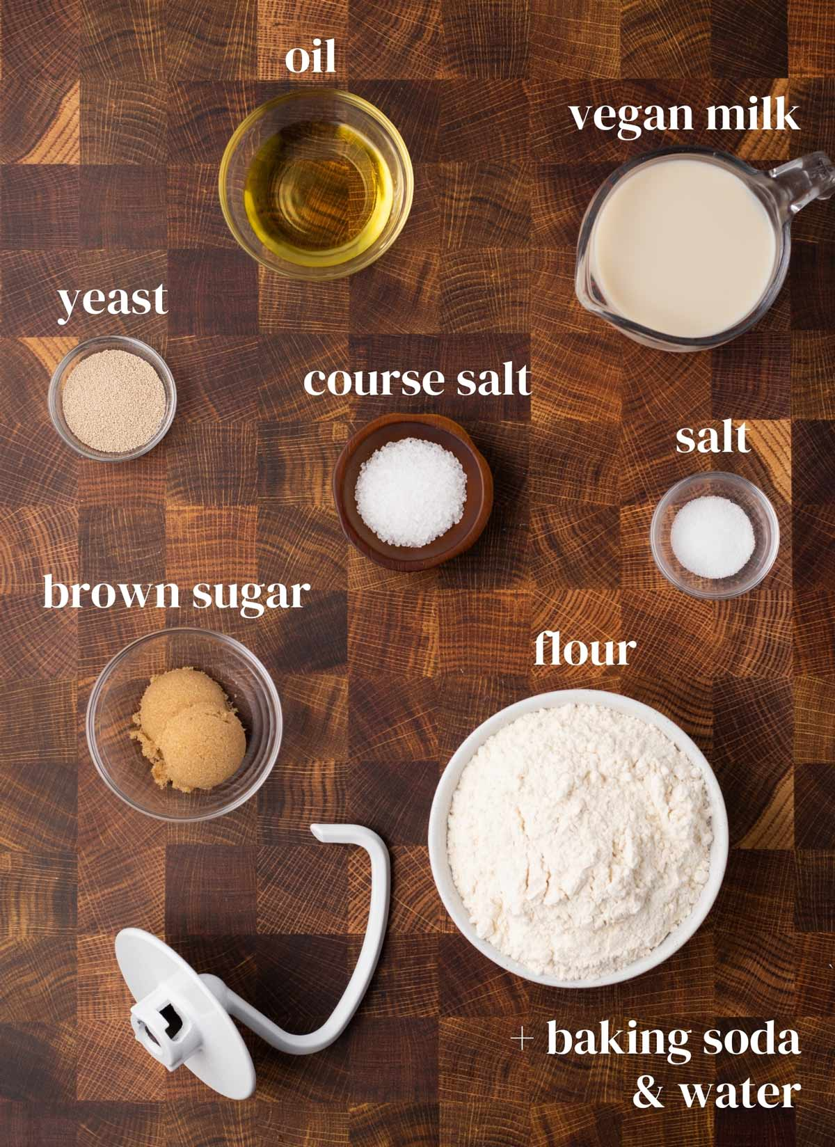 Ingredients for this recipe laid out on a surface.