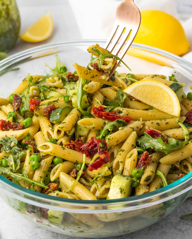 A fork-full of salad.