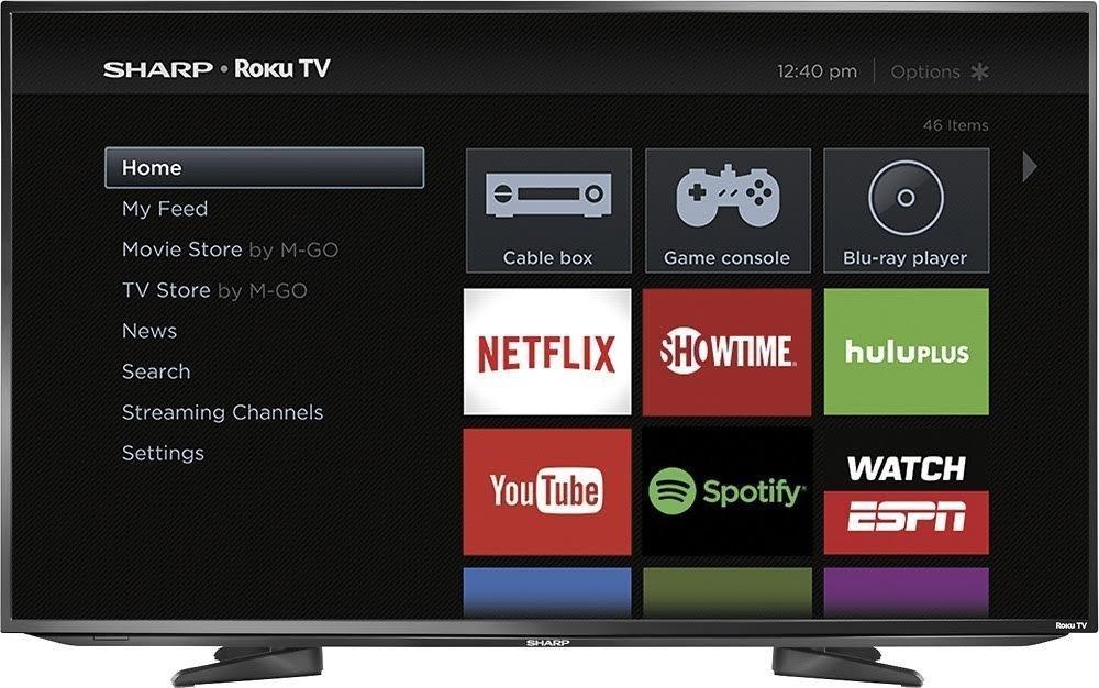 "HDTV Roku TV 1080p Sharp 40/"" Class Smart LED"