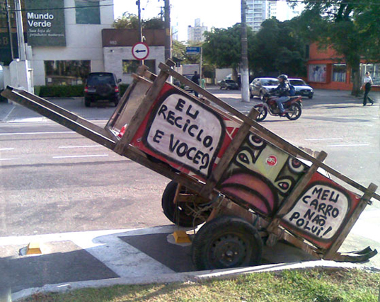 carrinho de catador de lixo l imagem: o guia verde