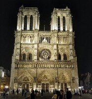 Face of Notre Dame at night