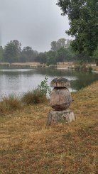 Wood sculpture on the lake of Bois de Vincennes