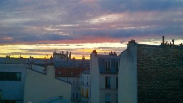 Rooftop sunset in Paris