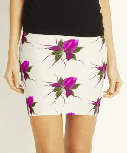pink bloom skirt
