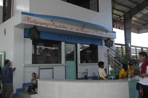 The help desk of Mauban terminal port.