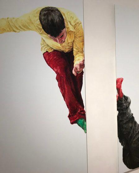 (c) 2012 Stefanie Gerhardt: Graham, Öl und Acryl auf Dibond, Sammlung Würth